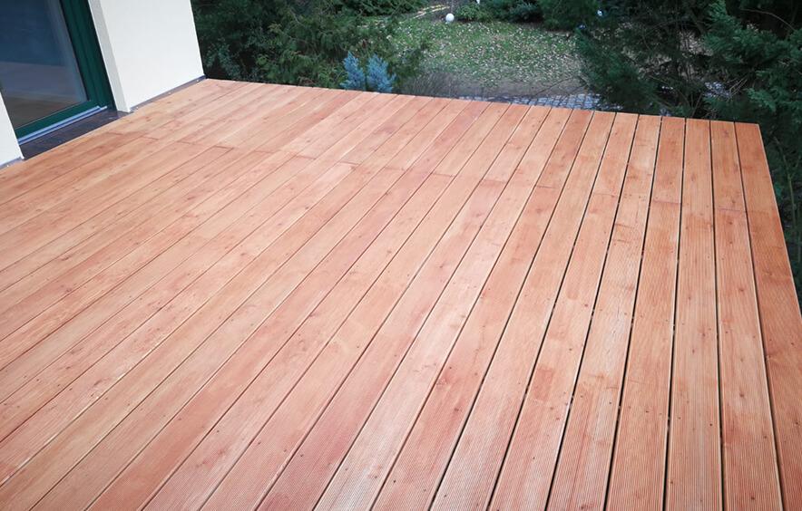 Terrassenboden aus Holz